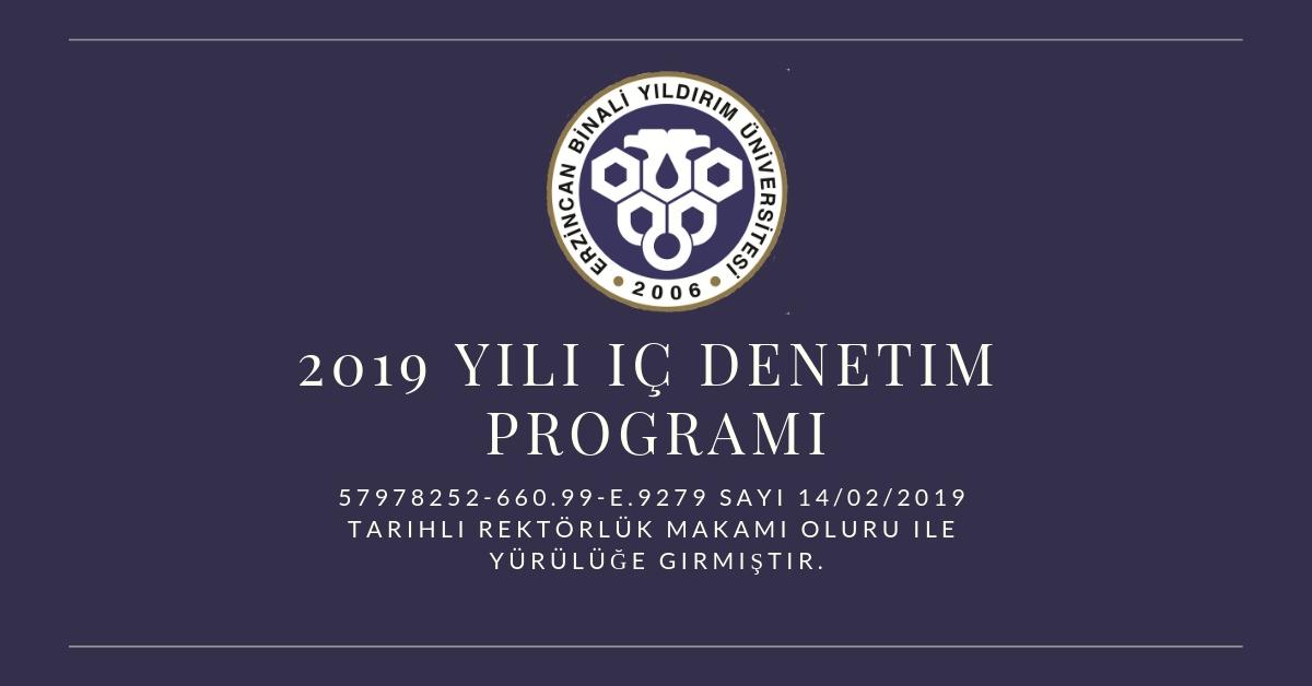 2019 İç Denetim Programı
